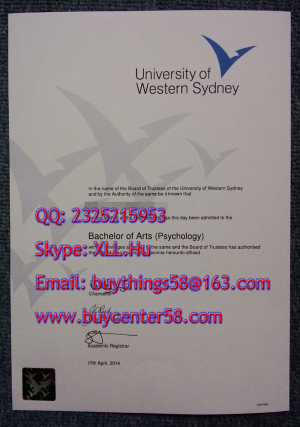 Buy University of Western Sydney degree online